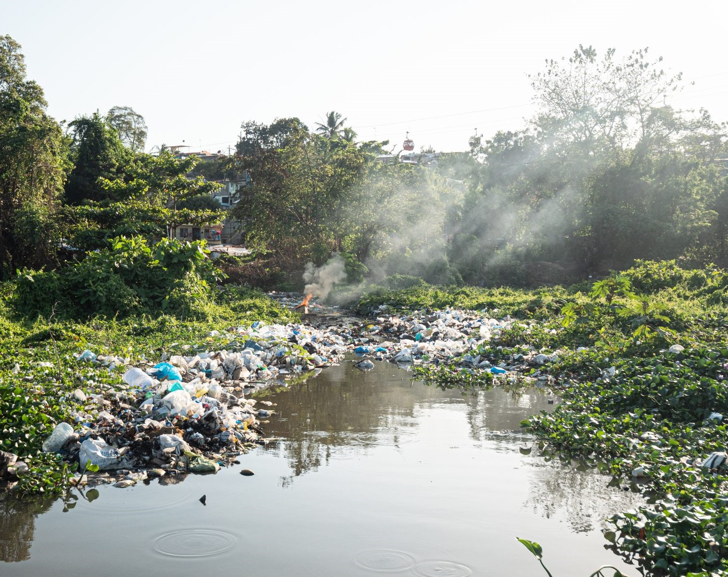 polluting rivers